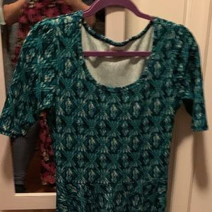Lularoe Nicole small, teal and black